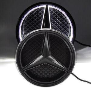 Illuminated Black Car Led Logo Emblem Grille Light For Mercedes Benz Twist Type