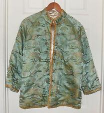 Vintage 60's Silk Fine Embroidered Village Scene Tailor Made Hong Kong Jacket