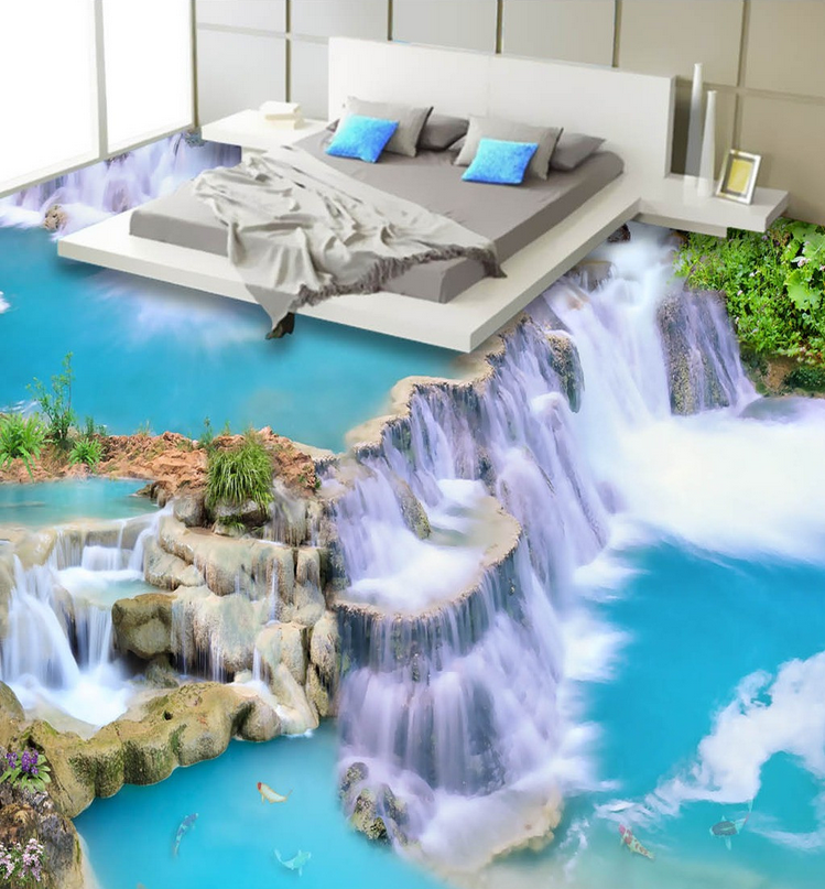 3D Blau Flowing Water 78 Floor WallPaper Murals Wall Print Decal AJ WALLPAPER US