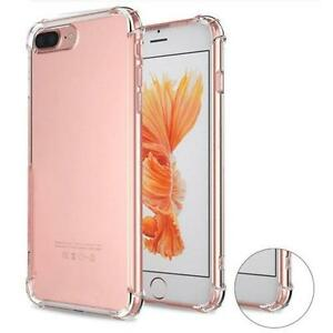 official photos 1b9e0 d64ab Details about Clear Ultra Thin Soft Anti Shock Bumper Gel Cover iPhone 7  6,6s Plus 5 5c 5S SE