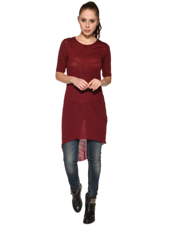 Tigha Tigha Tigha donna camicia lunga NELIA Rosso ciliegia dc2e70
