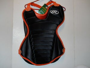 RAWLINGS-ADULT-CHEST-PROTECTOR-MODEL-RCP-BLACK-ORANGE