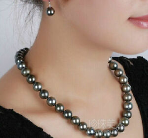 GORGEOUS-9-10MM-AAA-NATURAL-BLACK-Tahitian-PEARL-NECKLACE-14K-WHITE-GOLD-18-034