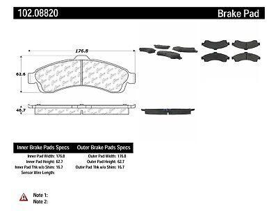 Disc Brake Pad Set-C-TEK Metallic Brake Pads Front Centric 102.08820