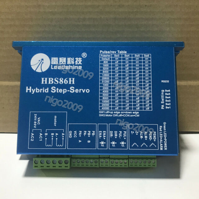 Leadshine HBS86H Hybrid NEMA34 Stepper Drive ES-D1008 Controller Motor 30-100VDC