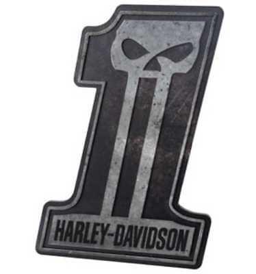 Harley Davidson No.1 Skull Pub Sign Man Cave Christmas Gift