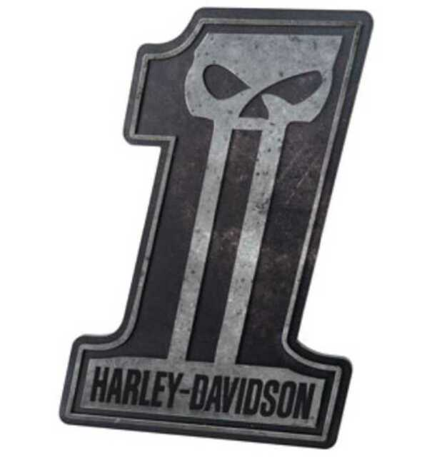 Harley Davidson No.1 Skull Pub Sign Man Cave Birthday Gift