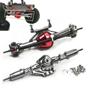 CNC-Aluminum-Alloy-Front-amp-Rear-Axle-Set-For-AXIAL-SCX10-1-10-RC-Rock-Crawler