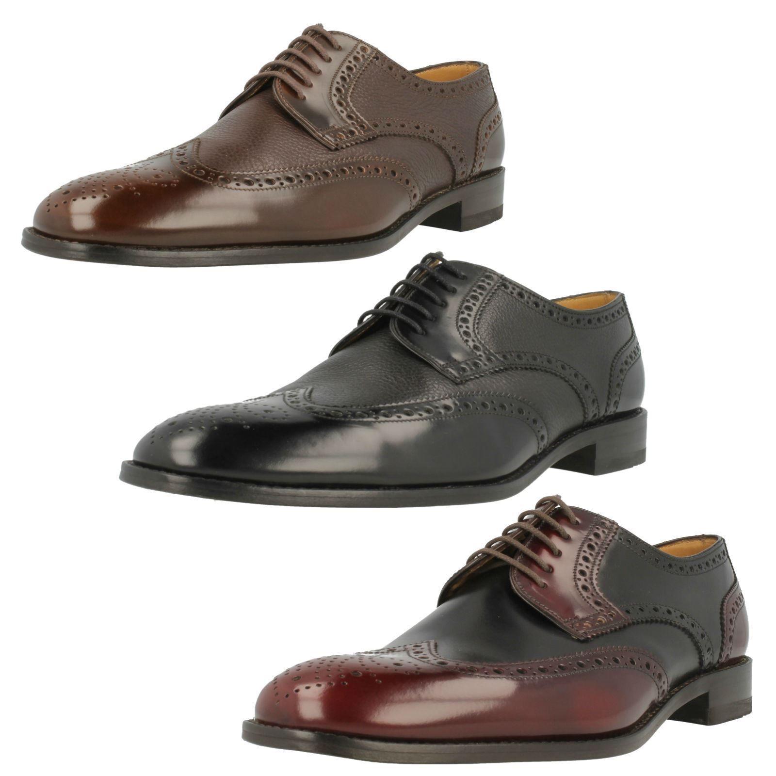 Cómodo y bien parecido Loakes Para Hombre Cuero lazada zapato bajo de cuero zapatos 3 Colores Tamaños Reino Unido 7-12 G Fit Arlington