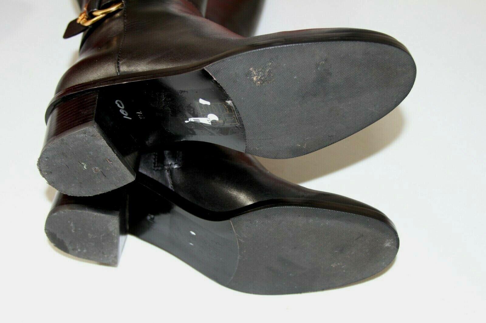 83 TORY BURCH MARSDEN BLACK LEATHER KNEE BOOTS      SZ 7 770963
