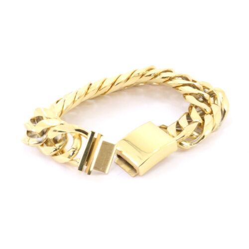 MIAMI CUBAN TIGHT LINK SOLID 14K YELLOW GOLD FINISH THICK 21MM 10inches BRACELET