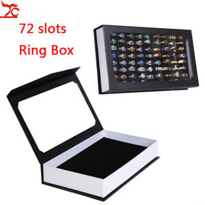 Rings-Display-Tray-Rectangle-Display-Tray-Container-72-Slots-Rings-Storage-Case