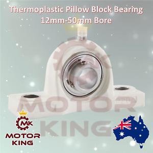 Thermoplastic SS Pillow Block Bearing Self Aligning Foot Housing 12mm-50mm Bore