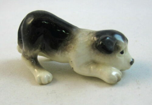 Hagen Renaker miniature made in America dog Border Collie Pup