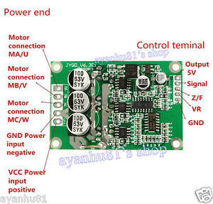 Dc 12v 36v 500w Brushless Motor Pwm Control Controller