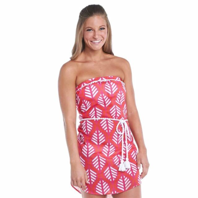 Large Mud Pie Alison Strapless Cover Up Black Honeycomb