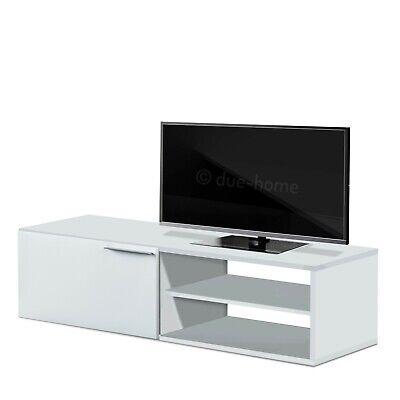 Modulo bajo TV comedor moderno mueble salon  Blanco Brillo o Gris Ceniza