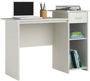 Details About Kids Computer Desk Wood Student Study Home Office Dorm Room Furniture White