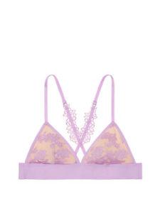 243314806bf8e Victoria s Secet Unlined Pink Daisy Lace Purple Petal Triangle ...