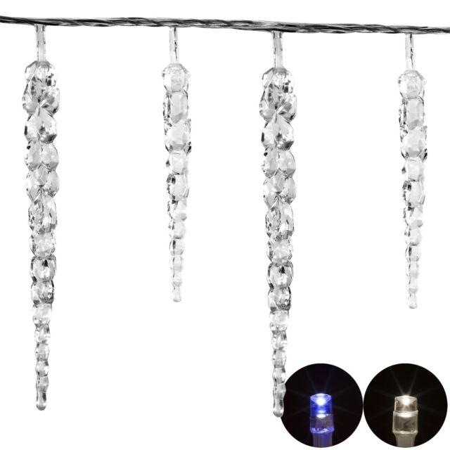 VOLTRONIC 40 LED Lichterkette Eiszapfen Weihnachten Deko Weihnachtsbeleuchtung