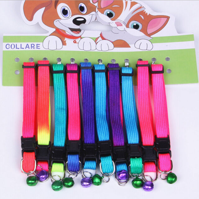 Dogs Cat Neck Strap Lovely Adjustable Pet Collar Leash Lead Flat Colorful5 WdCA