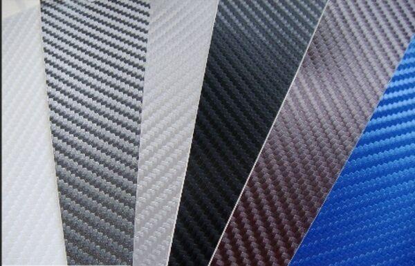 3D Kohlefaser Vinyl Hülle (Luft Blasenfrei) Alle Farben Alle Größen