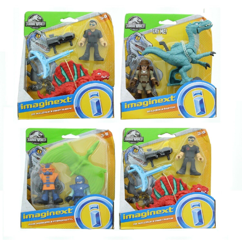 Lot of 2 Fisher Price Imaginext Jurassic Park World Dinosaur Capture Set 3-8