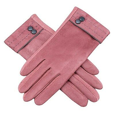 Women Suede Gloves Touch Screen Warm Gloves Outdoor Driving Gloves Mittens Gift