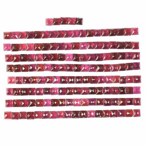 149-Pcs-Natural-Garnet-5mm-Square-Rose-Cut-Sparkling-Gemstones-Wholesale-Lot