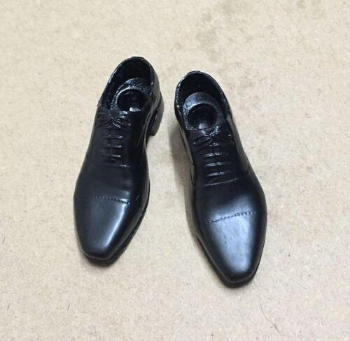 """Échelle 1//6 accessoires noir chaussures élégantes Peg à l/'intérieur pour 12/"""" Male Figure Action"""