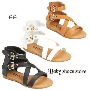 Flat Sandals Gladiator Toddler Girls Clover pGqzMVUS