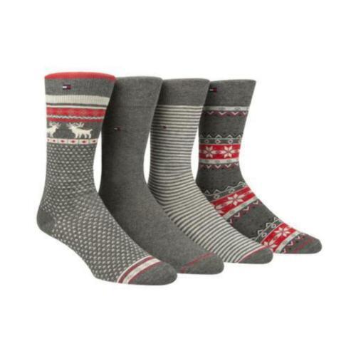 Tommy Hilfiger Mens Crew Socks Cotton Blend Printed