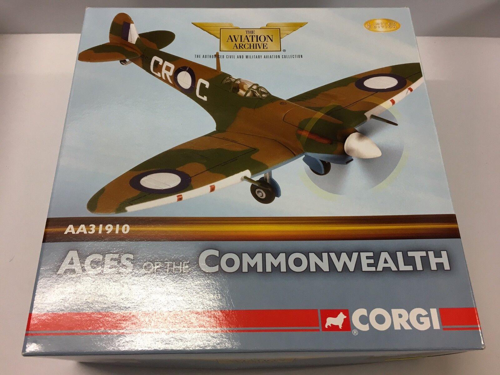 Corgi AA31910 Supermarine Spitfire Mk VC OC.1 RAF Ltd Edition No. 0002 of 2900