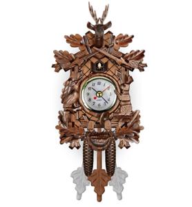 Vintage-Cuckoo-Clock-Forest-Swing-Wall-Room-Decor-Wood-Cartoon-Clock