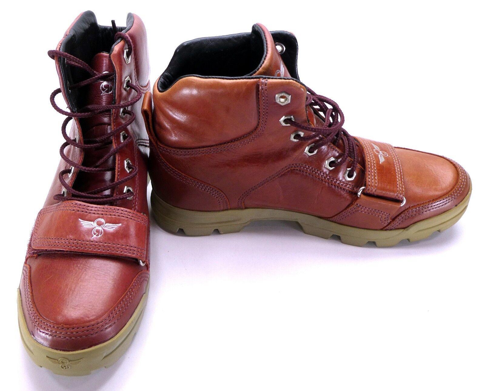 Creative Recreation Correa De Cuero Marrón Zapatos dio MID botas TALLA 8