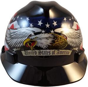 Osobiste wyposażenie ochronne MSA SAFETY WORKS 10034263 UNITED WE STAND USA WHITE HARD HAT CAP STYLE 3259868