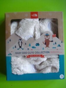 7569a2d14b5 NORTH FACE BABY OSO HAT AND MITTENS SOFT POLAR FLEECE CREAM XS (6-24 ...
