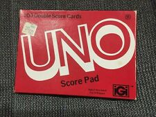 Vintage 1978 UNO Card Game Score Pads 100 Double Sided Pages # 4001