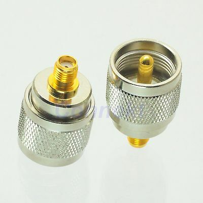 1pce UHF male PL259 PL-259 plug to SMA female jack RF adapter connector