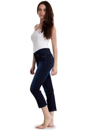 Ladies Denim Crop Trousers Cropped Stretch 3//4 Summer Pockets Capri Pants