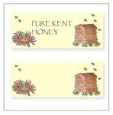 Personalised Honey Jar Labels - Sheet of 14  Labels, Original Design.