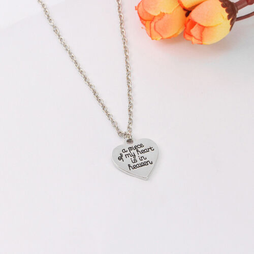A Piece Of My Heart Is In Heaven Guardian /& Wing Necklace Ring For Love Gift LH
