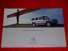 MERCEDES W463 G-Klasse G270 CDI G 400 CDI G 320 G 500 G55 AMG Prospekt von 2003