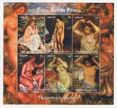PIERRE AUGUSTE RENOIR IMPRESSIONISM PAINTING ART 2002 MNH STAMP SHEETLET