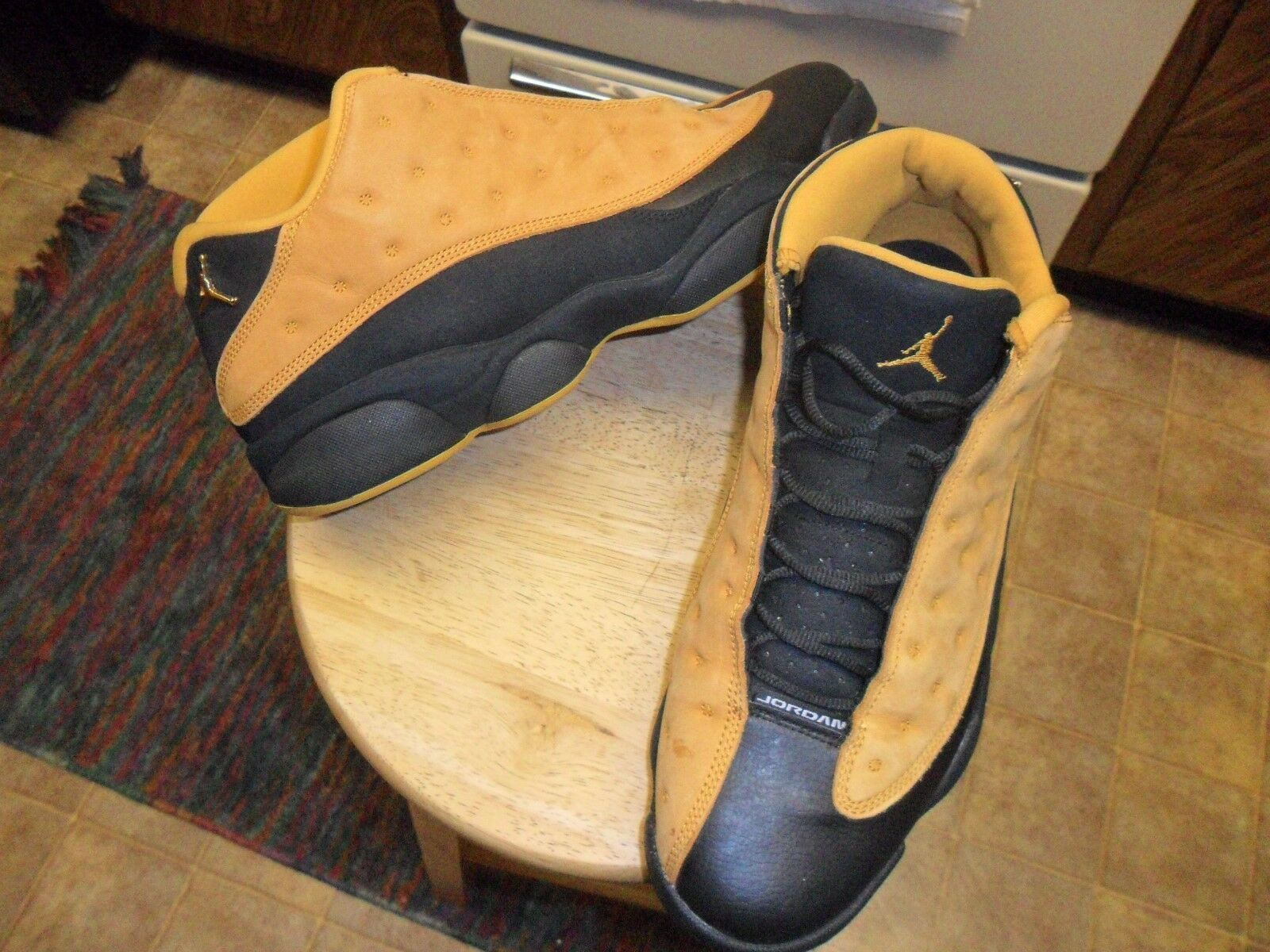 Jordan 13 XIII Retro Low Chutney 2017 Black/ Wheat 310810-022 Sz13 New shoes for men and women, limited time discount