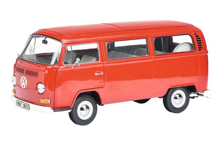 mejor calidad Un autobús autobús autobús Volkswagen T2 microbús Rojo 50 Años Aniversario 1/18 por 450020180 Schuco  ventas en linea