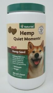 NaturVet Quiet Moments Calming Aid For Dogs - 180 Soft Chews Exp 11/2022 #9329