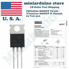 lot of 6 220 Fairchild FQP50N06 Transistor Mosfet N TO