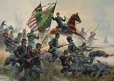 The Irish Brigade at Battle of Antietam, Maryland -- Military Civil War Postcard