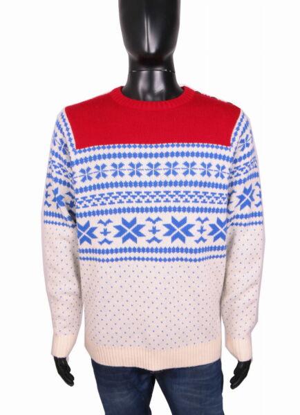 *johnny Leave Mens Sweather Christmas Pattern Size M Famoso Per Materie Prime Di Alta Qualità, Gamma Completa Di Specifiche E Dimensioni E Grande Varietà Di Design E Colori